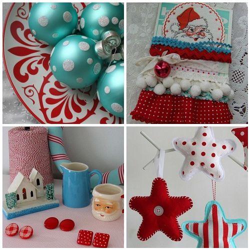 red and aqua christmas