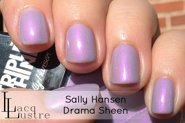 Sally Hansen Triple Shine Drama Sheen and Make Waves Swatches and Review