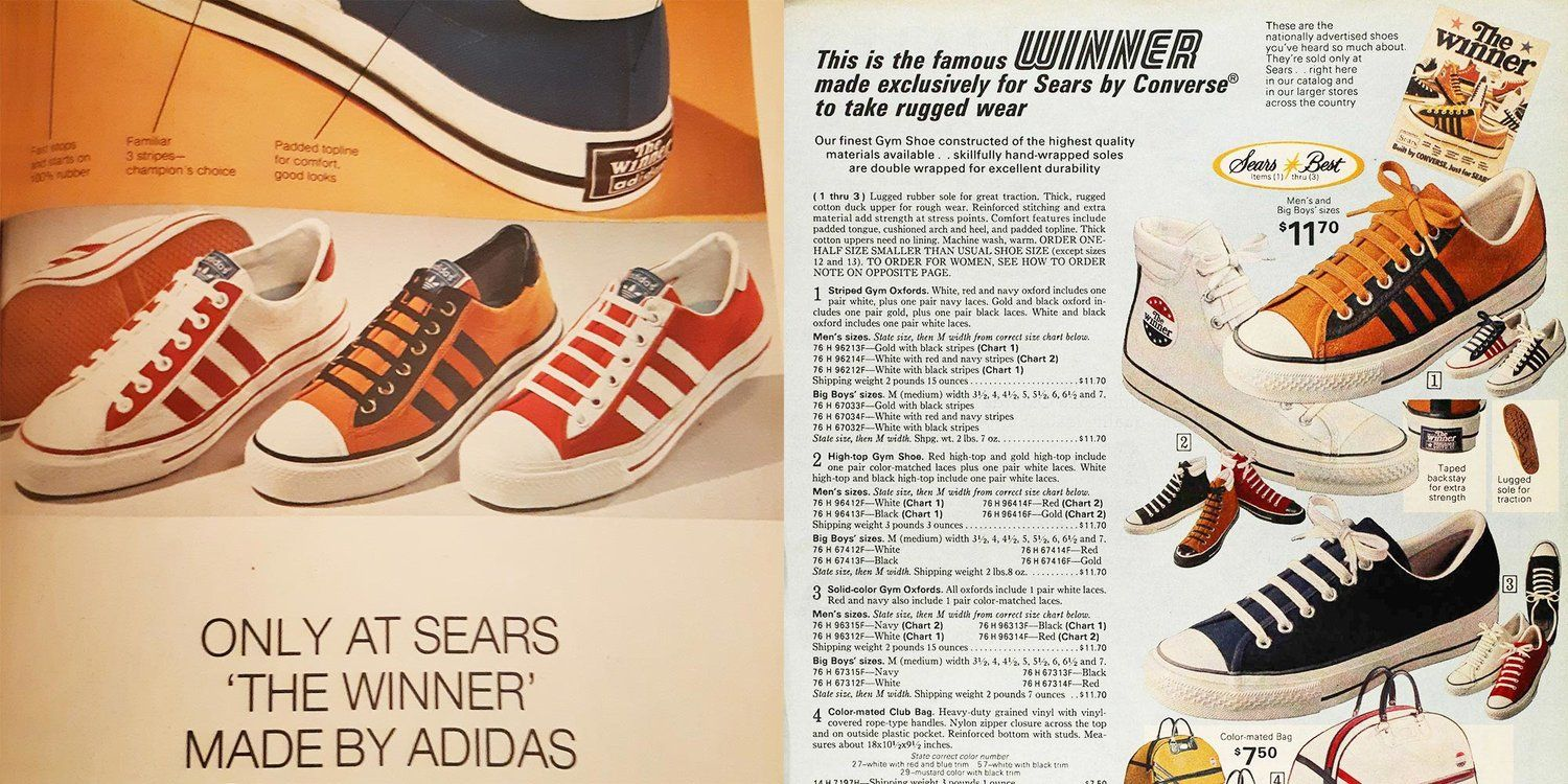 Sears the Winner 1974 vintage shoes by