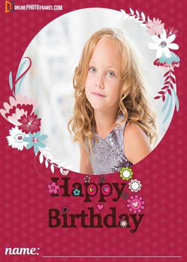 Happy Birthday Wishes With Photo Upload Birthday Wishes With Photo Happy Birthday Kids Birthday Photo Frame