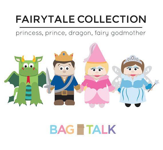 Printable Templates For Kids To Make Fairytale Paper Bag