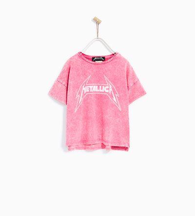 Metallica T Shirt T Shirts Girl 4 14 Years Kids Zara