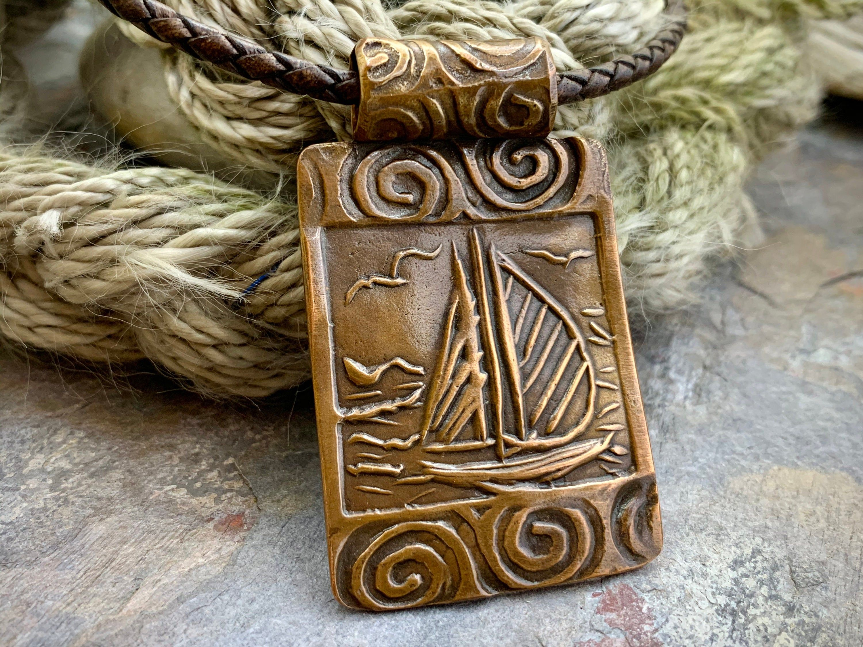 Sailboat, Copper Pendant, Sailing Jewelry, Nautical Gifts