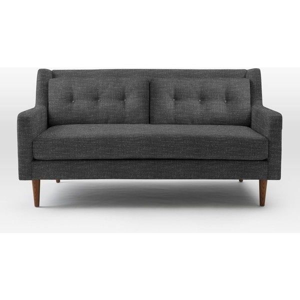 West Elm Crosby Sofa, Loveseat, Heathered Tweed, Charcoal   Couches    Sectionals   Living Room Furniture   Home Decor Designs