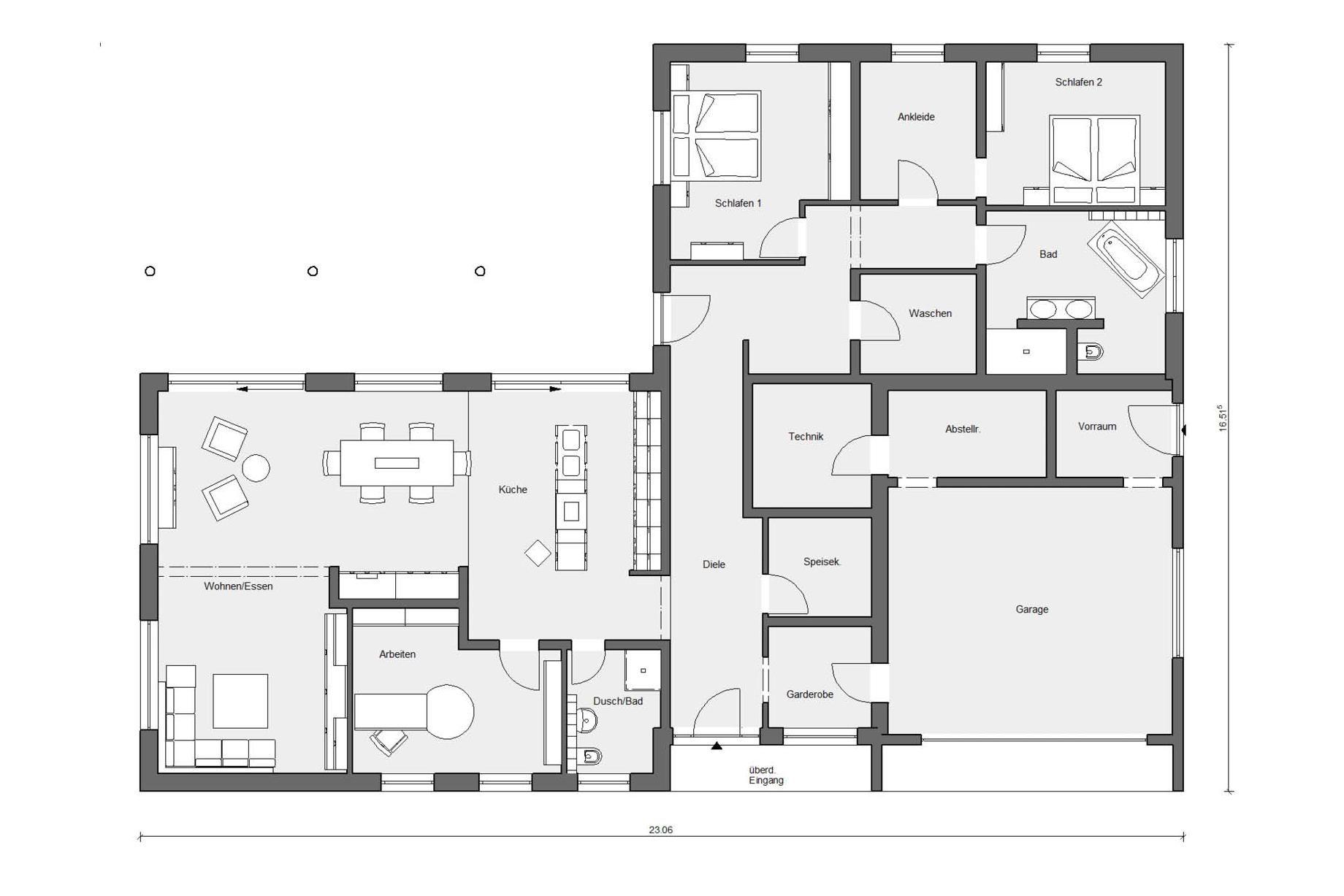 Hohenstein/Oberstetten Haus grundriss, Grundriss