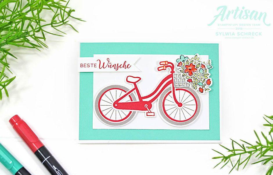 Fahrrad Karte.Fahrrad Karte Mit Stampin Up Stempelset Bike Ride Bei Sylwia