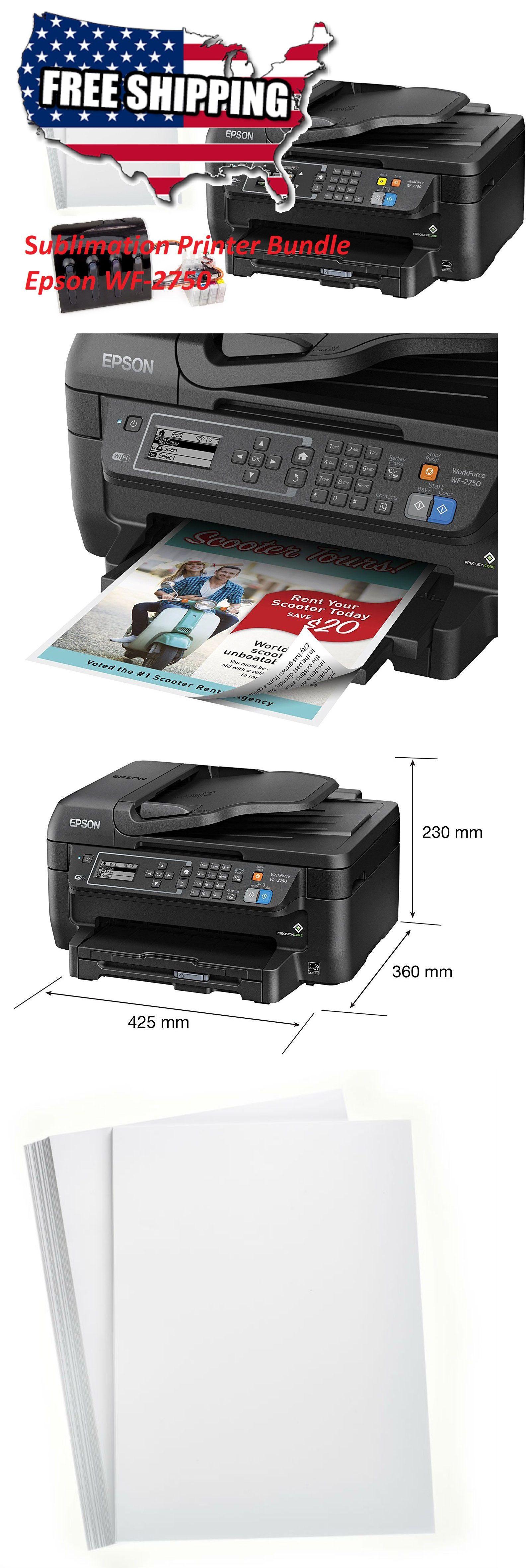 Printers 1245: Epson Wf-2750 Sublimation Printer Bundle Ciss Kit
