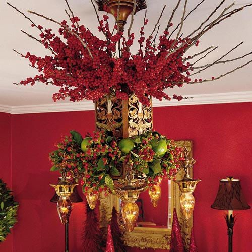 25 Cool Ideas To Make Christmas Chandeliers , When you\'re decorating ...