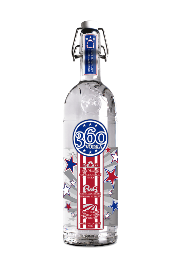 Patriot Limited Edition Vodka, Vodka brands, 360 vodka