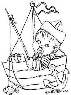Risco Para Fraldas De Meninos Marinheiros Coisas Para Desenhar