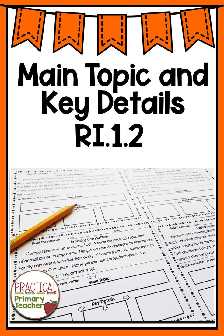 Main Topic and Key Details Reading comprehension