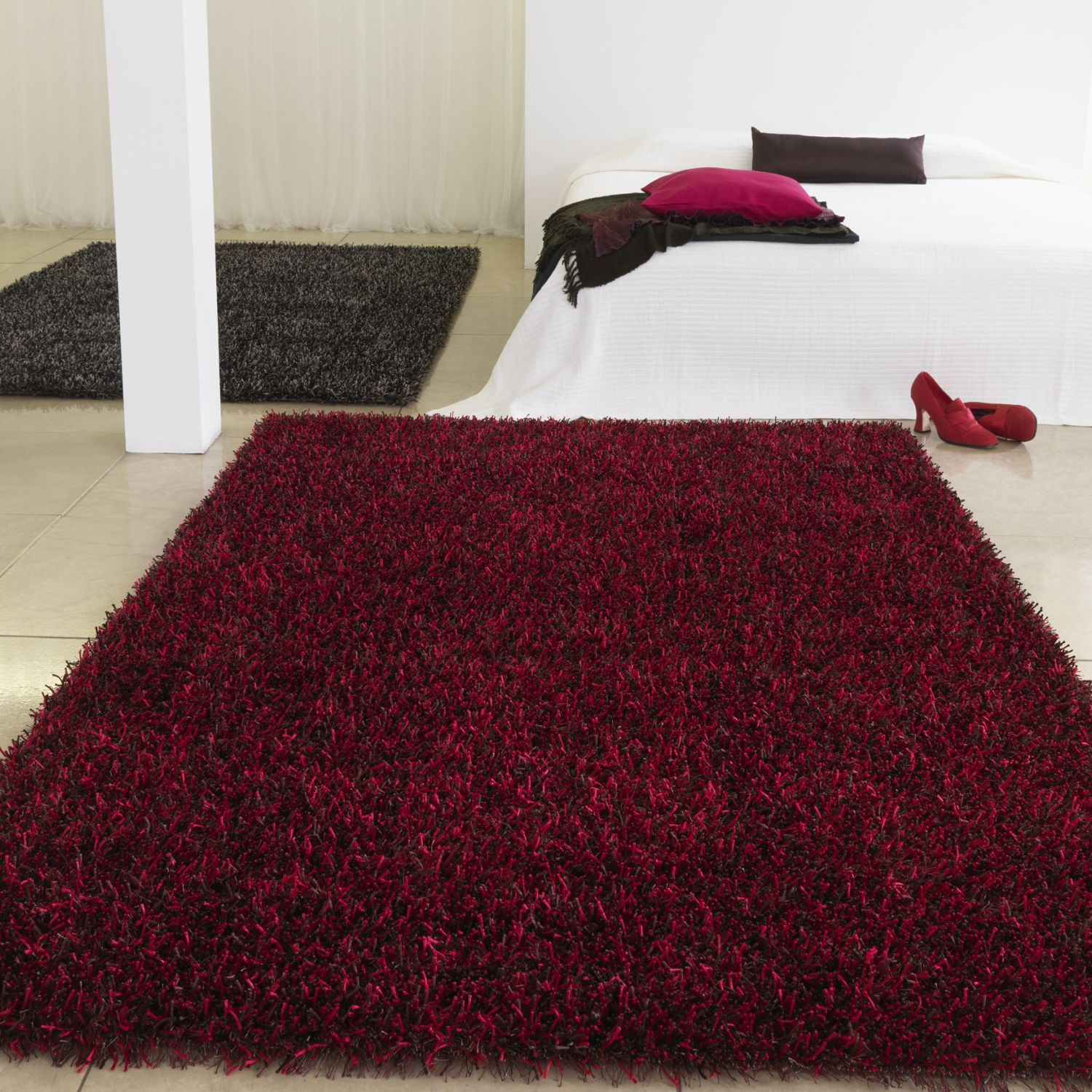 Carpetright Damson Red rug / interior design (With images