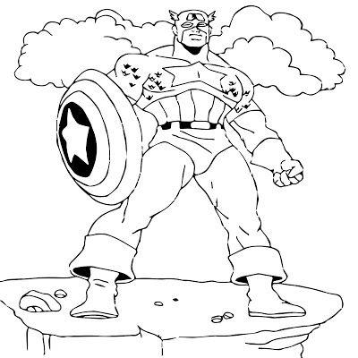 Free Online Captain America Coloring Pages For Kids Boyama Sayfalari