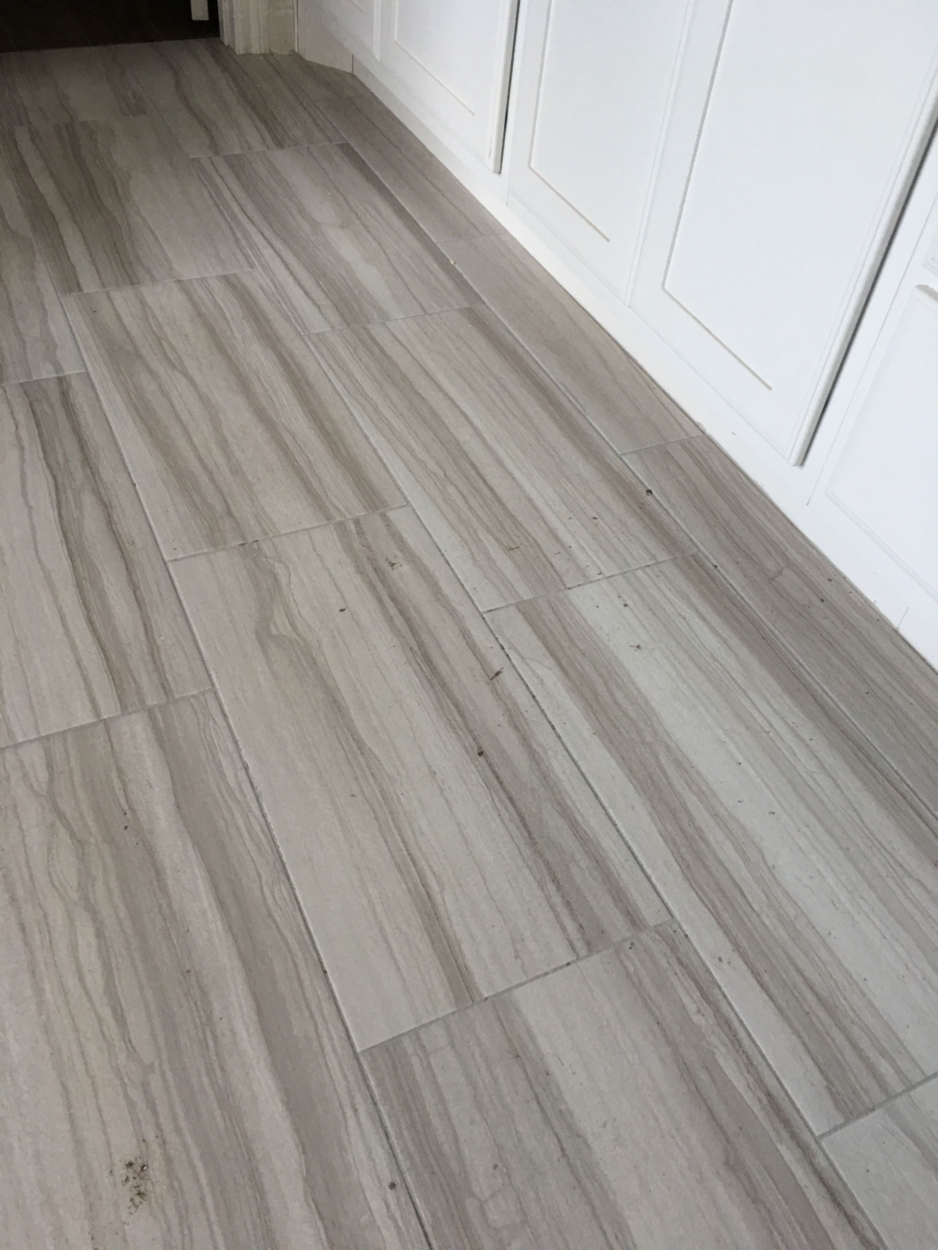 Interceramic Burano Bianca Veletta 12 X 24 W 1 8 Grout Lines Texrite Chromaflex Executive Grey Grout 12x24 Tile Wood Tile Floors Discount Tile