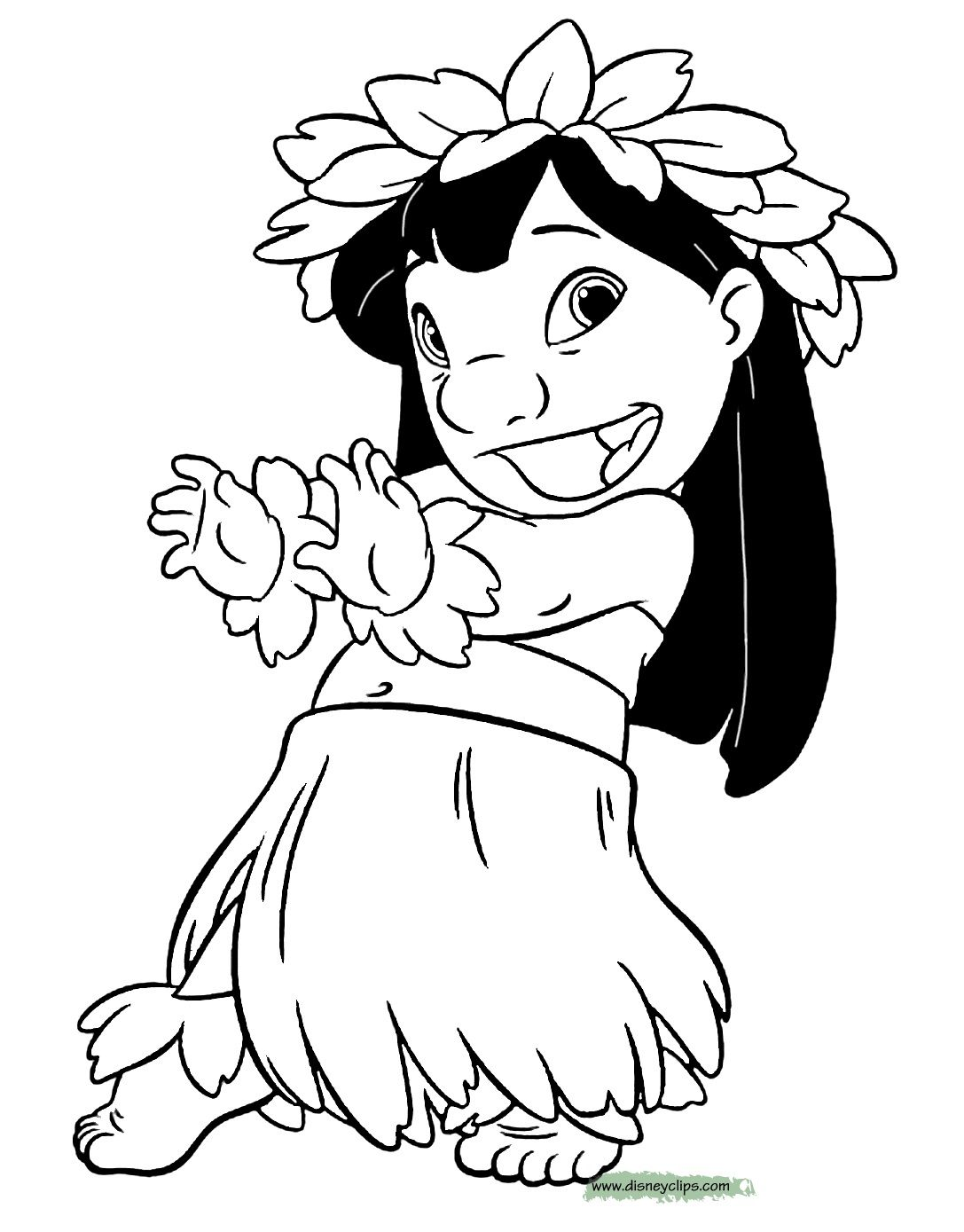 Lilo Stitch Coloring Page y Blank Pattern Lilo
