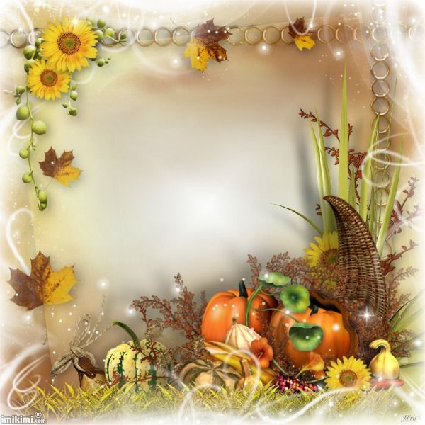 Happy Thanksgiving! Click to add your photo to this autumn frame ...