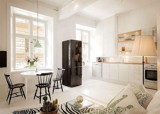 disegno » cucine soggiorno country - ispirazioni design dell ... - Soggiorno Cucina Open Space Ikea