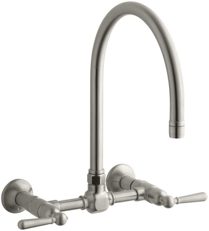 Kohler K 7338 4 Wall Mount Kitchen Faucet Faucet Wall Mount Faucet