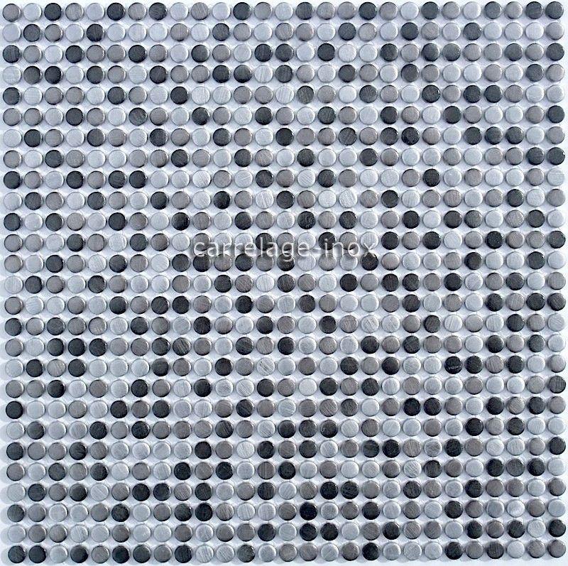 Credence Cuisine Aluminium Mosaique Douche Aluminium Cm Mini Round