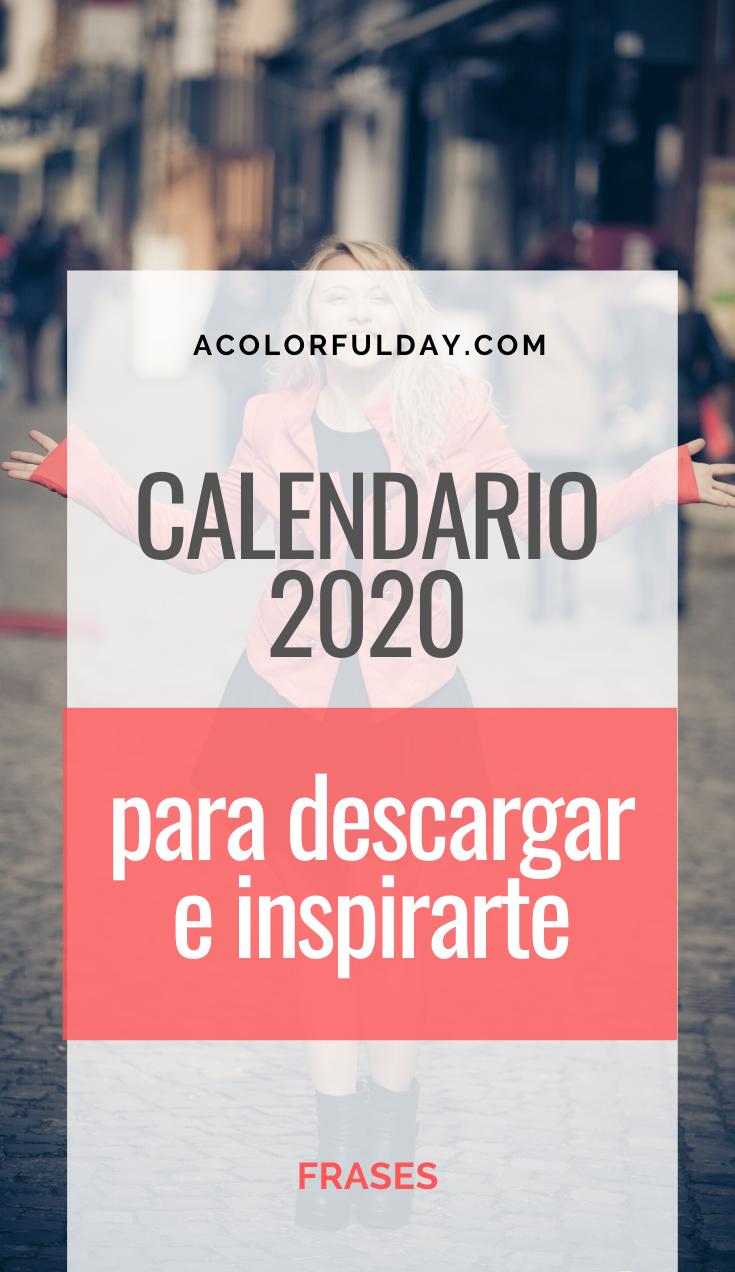 Calendario 2020 Con Frases Célebres Celebrar La Vida