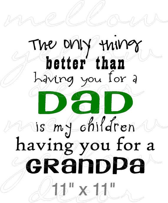 Dad Fathers Grandpa vinyl decal wall words by