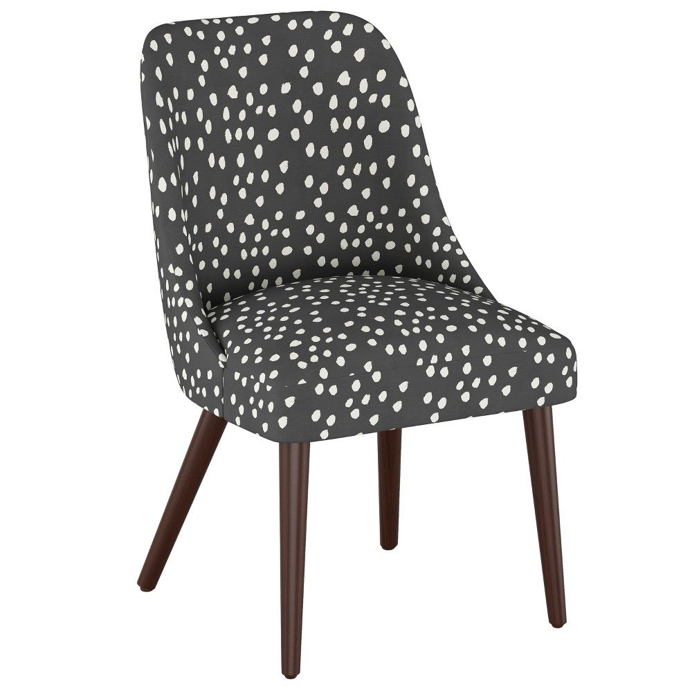 Geller Modern Dining Chair Scribble Dot Dark Gray