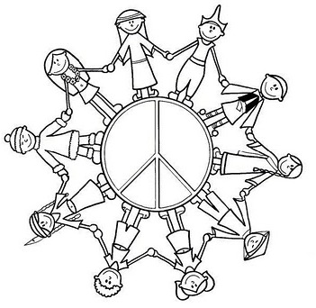 Ninos Del Mundo En Paz Dibujalia Dibujos Para Colorear Paz Y No Violencia Ninos Del Mundo En Pa Coloring Pages Sunday School Kids Racial Discrimination
