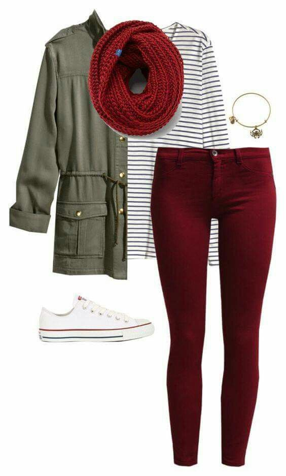 43 Best Red Converse outfit images | Red converse outfit