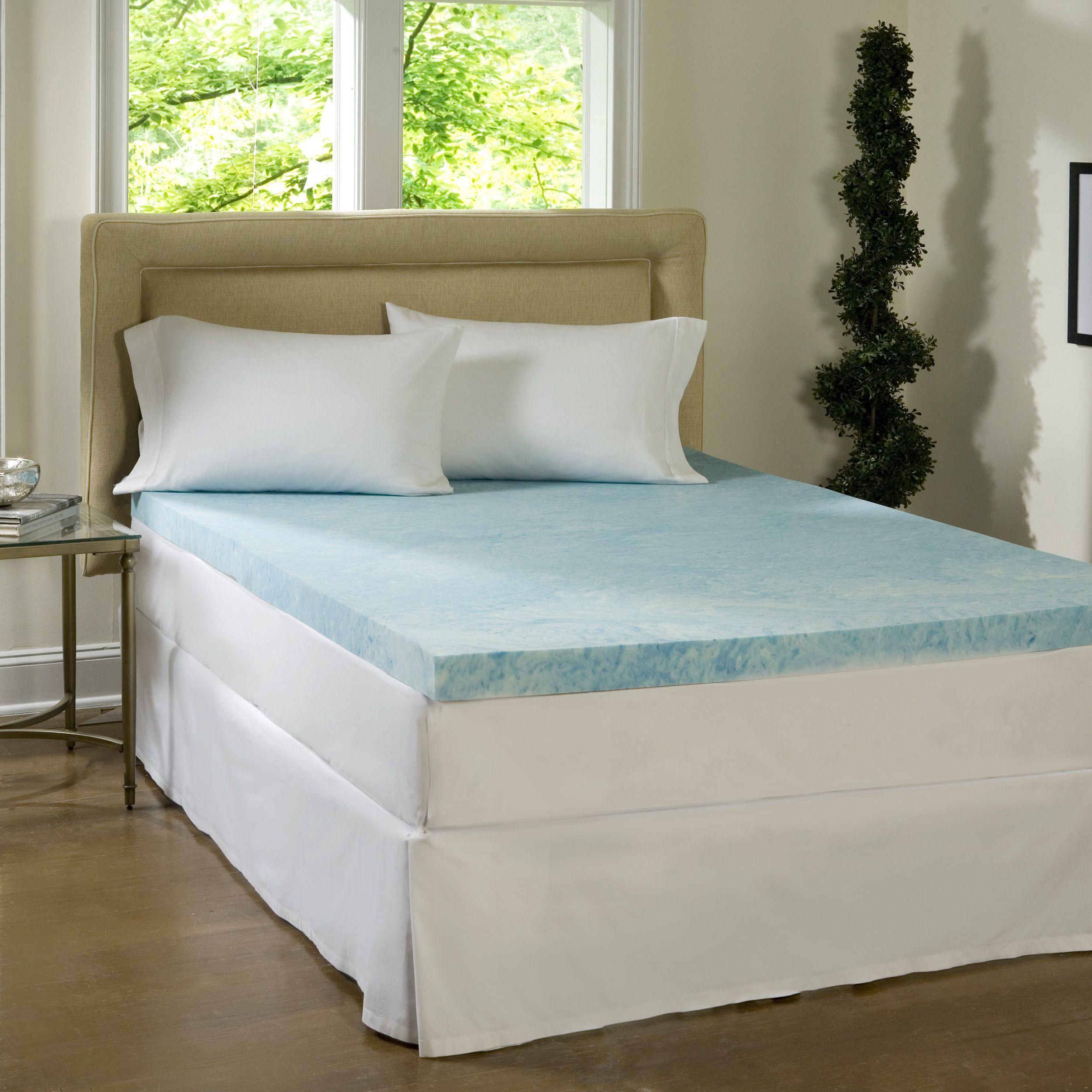 Comforpedic Loft From Beautyrest 4 Inch Flat Gel Memory Foam Mattress Topper Full Size As Is