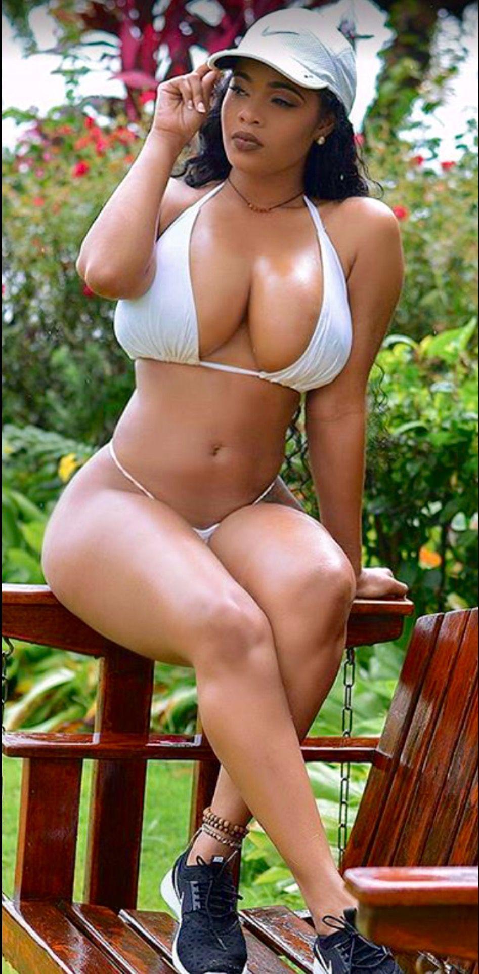 black women in nude swimwear