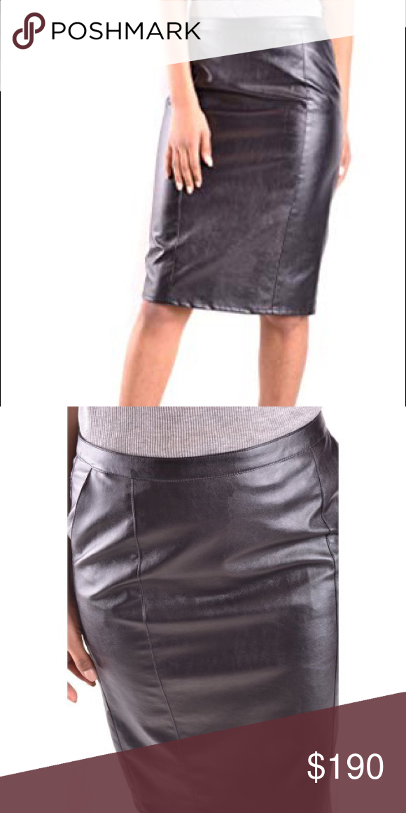d5f484d21 armani jeans leather skirt used twice but in very good condition!!! real  leather very soft and luxury!!! Armani Jeans Skirts Midi