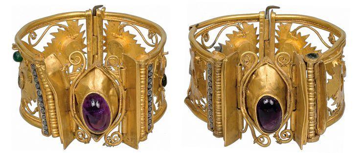 ornate gold cuffs