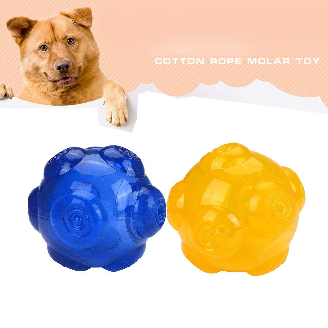 Cozycabin Dog Squeaker Chew Toy Pet Interactive Toy Squeaky Ball