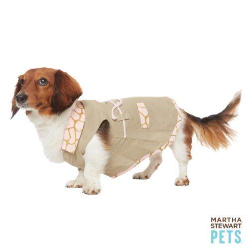 Dog S Khaki And Pink Safari Dress By Martha Stewart Pets Size