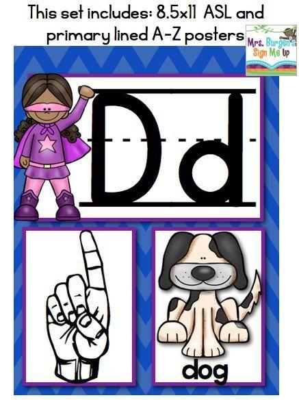 American Sign Language Superhero Alphabet bulletin boards