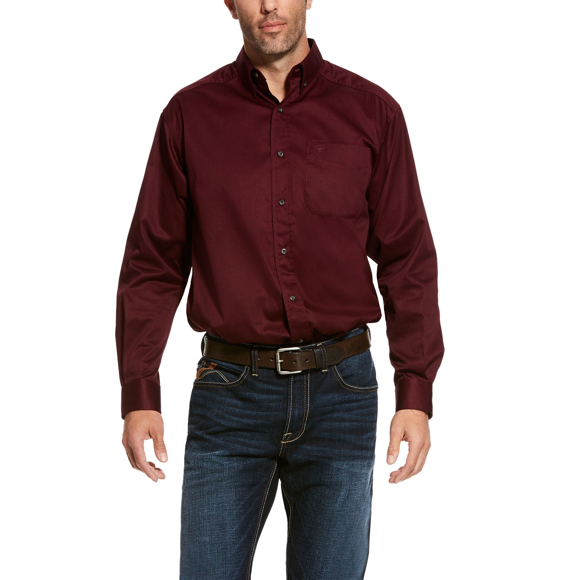 ARIAT Mens Solid Stretch Poplin Shirt
