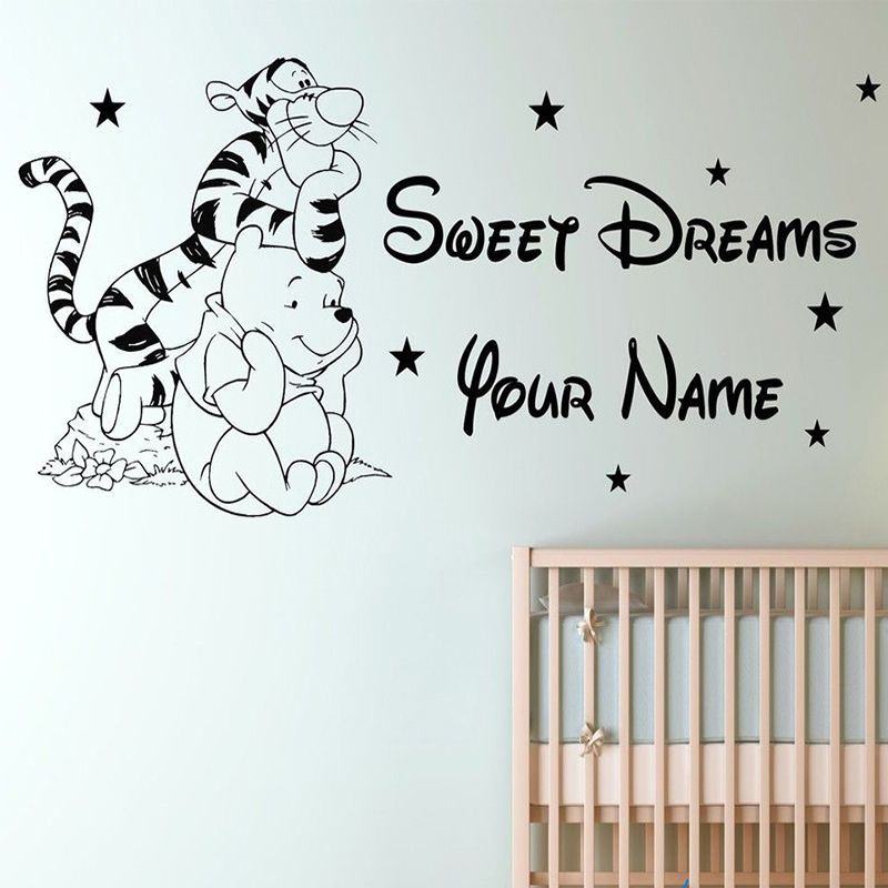 Custom Name Tigger Winnie The Pooh Children Bedroom Removable - Custom removable vinyl wall decals