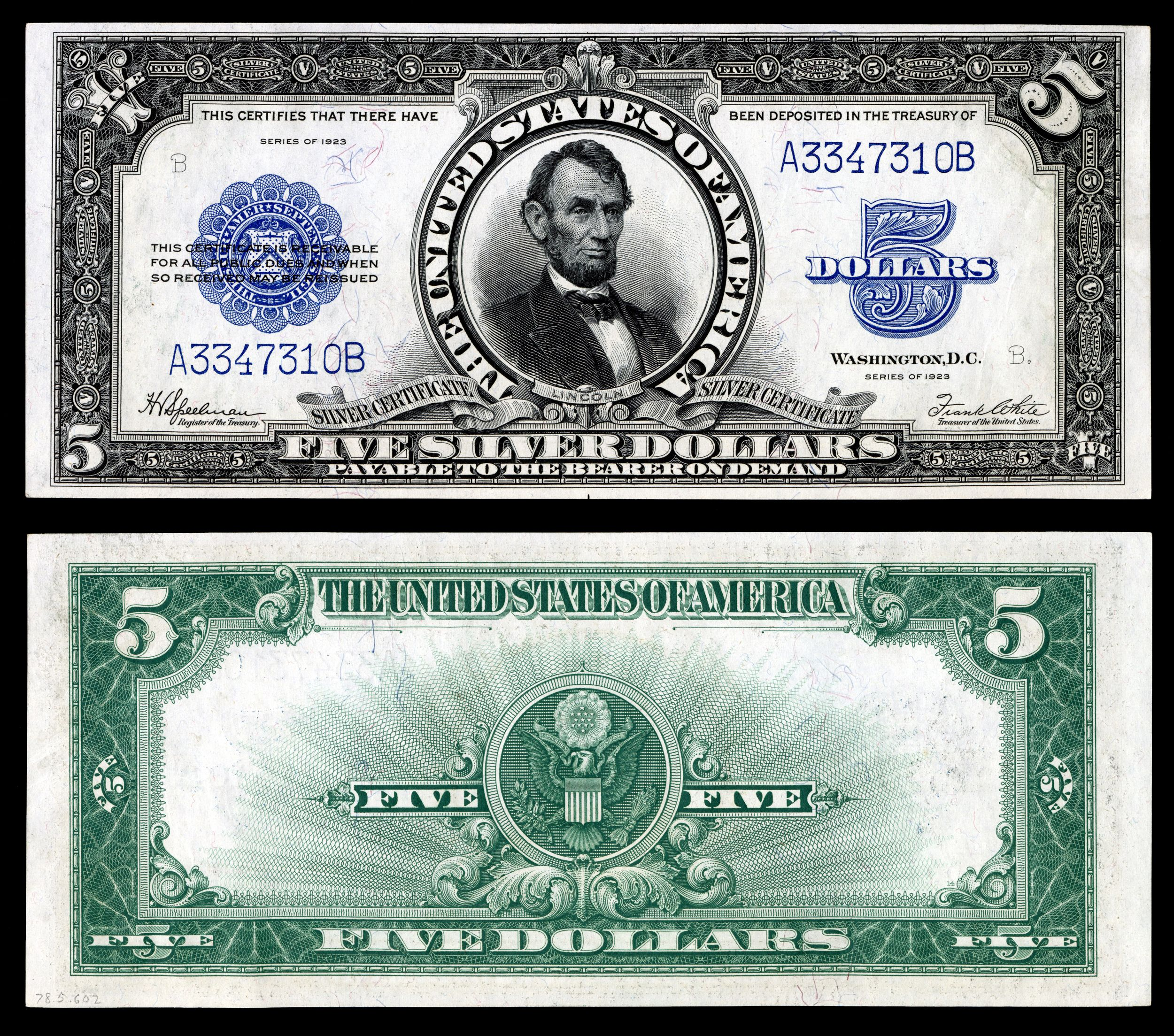 Us five dollar bill united states five dollar bill us paper series 1923 five dollar silver certificate 1betcityfo Image collections