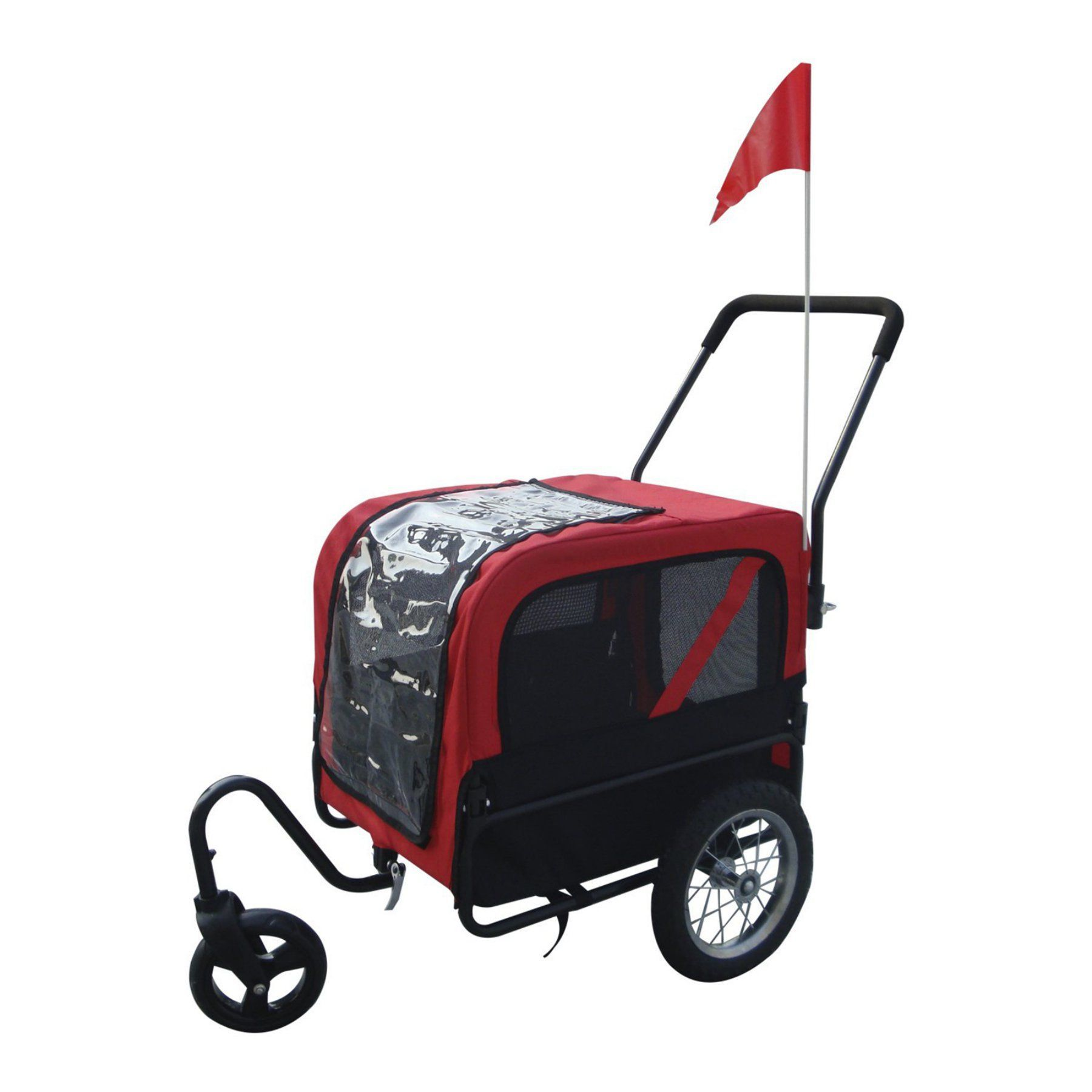 Aosom Elite Jr Dog Bike Trailer and Stroller with Swivel Wheel 5663 1334R