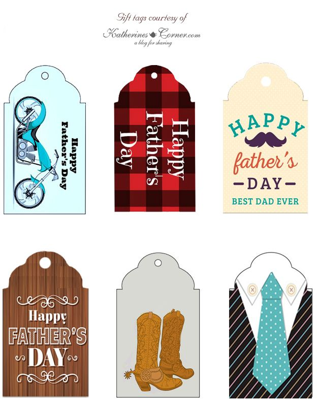 Fathers Day Gift Tag Printables Father S Day Printable