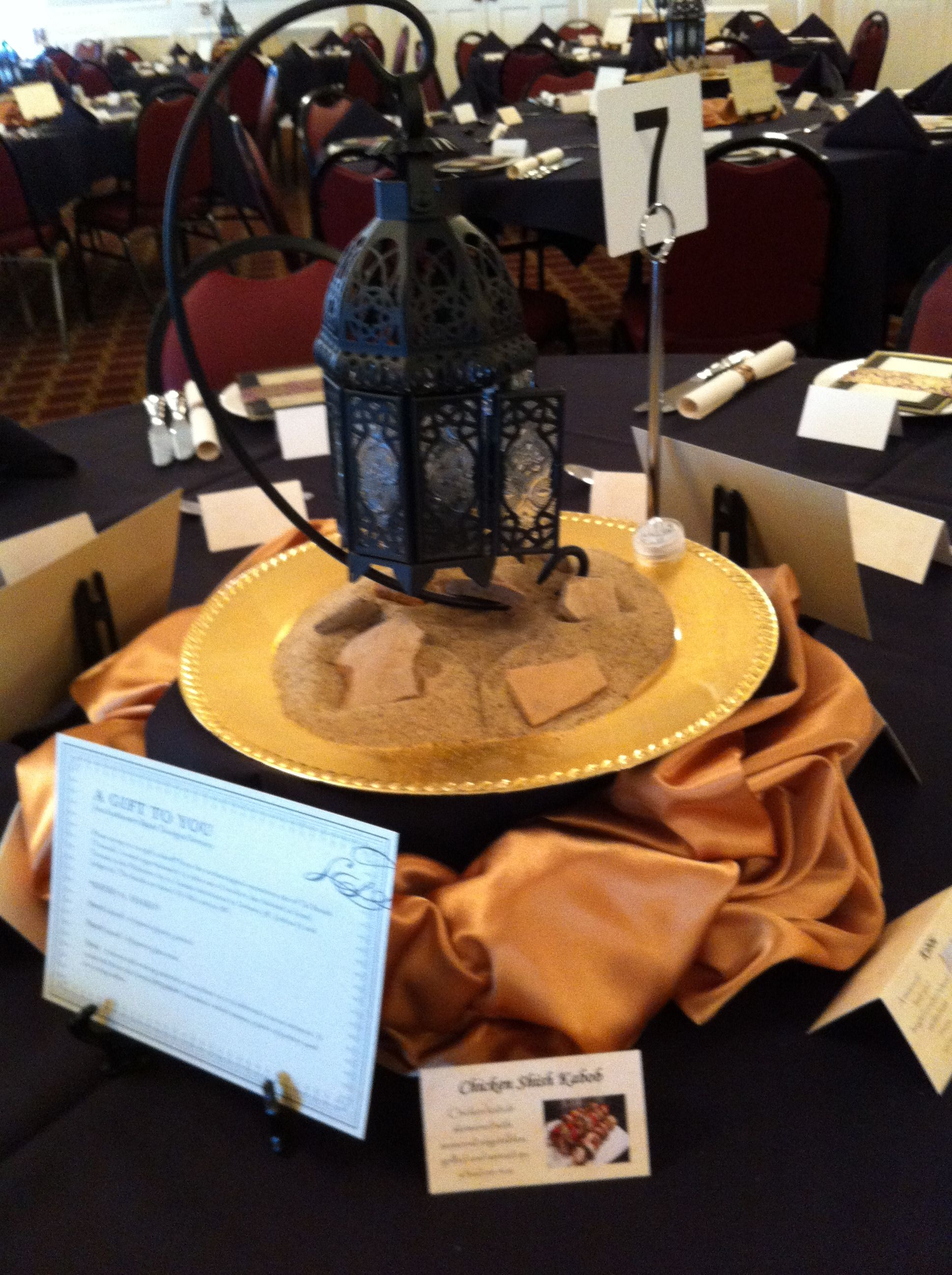 Tablescape at the 2012 Scriptorium Soiree in Fort Worth, TX.