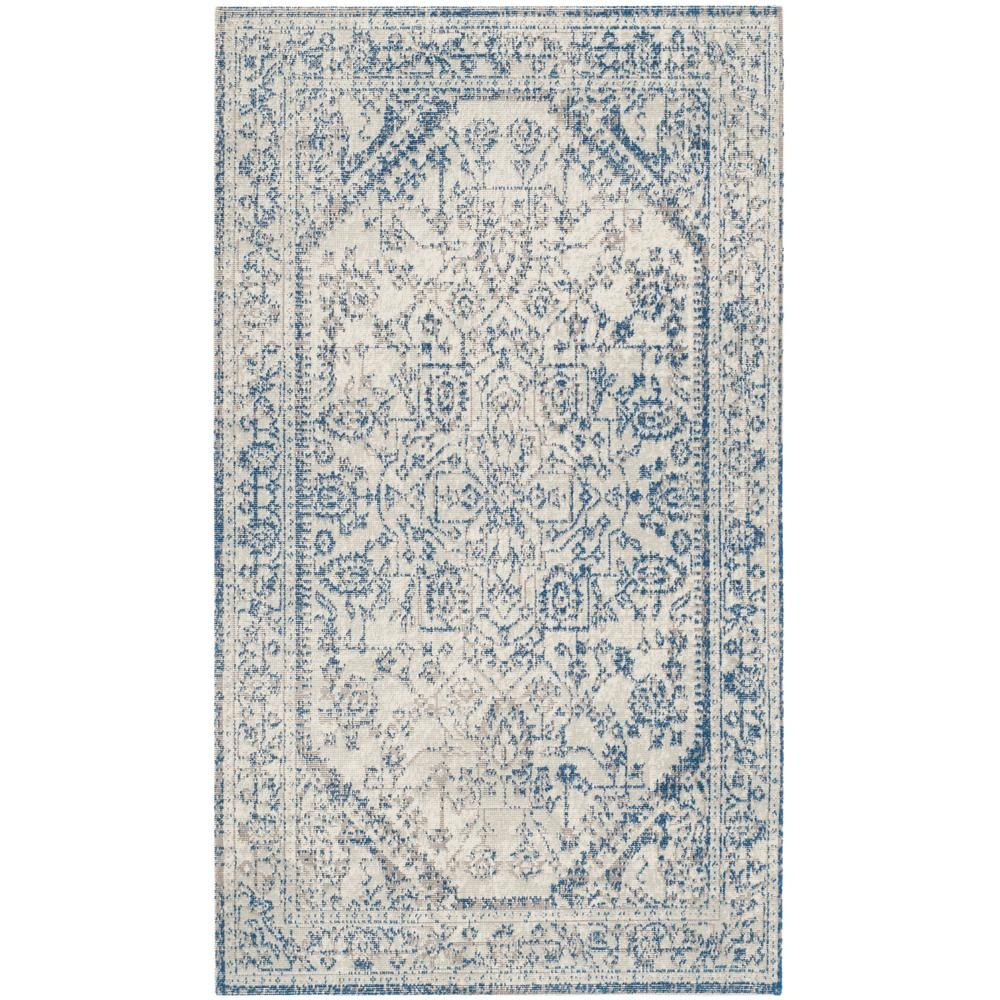 Stress In Rug.Safavieh Patina Light Gray Blue 3 Ft X 5 Ft Area Rug In