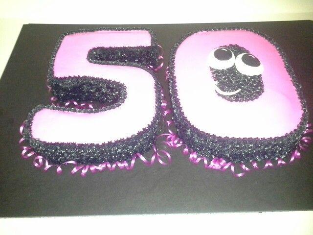 The Big 5 0 Happy 50th Birthday Cake