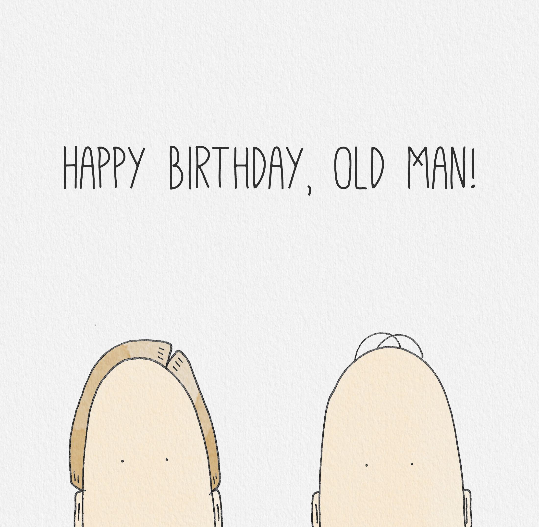 Old men love birthday cards oldman
