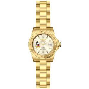 Invicta Men's Disney Gold-Tone Steel Bracelet & Case Automatic Champagne Dial Analog Watch 22779