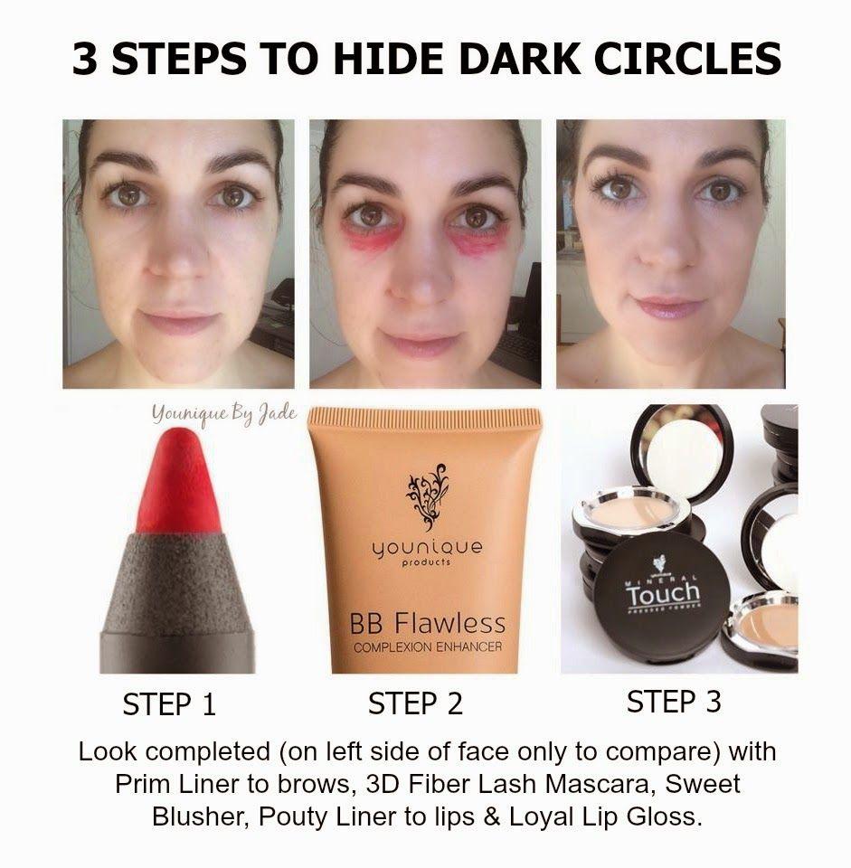 Hide Dark Circles the Younique way! Younique, Dark under