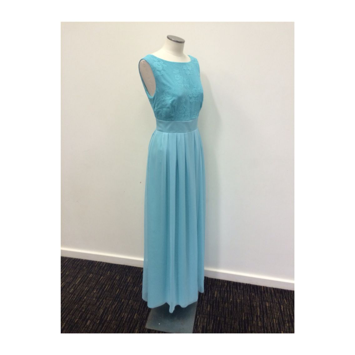 Love frocks bridesmaid dresses sea green lace with nipped in