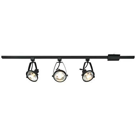 Pro Track Ivesdale Black 3 Light Track Fixture 9j485 Lamps Plus Track Lighting Fixtures Lamps Plus Light