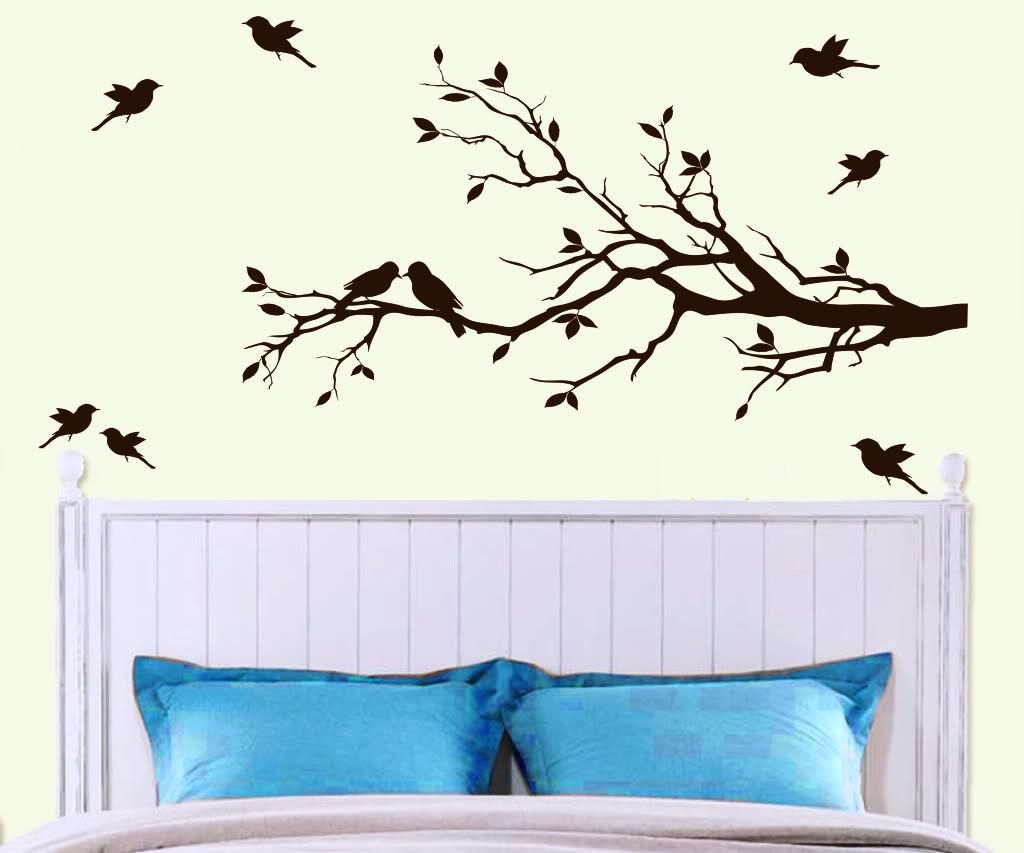 Bedroom wall art trees - Tree Wall Decal For Interior Decoration Home Design Inspirations