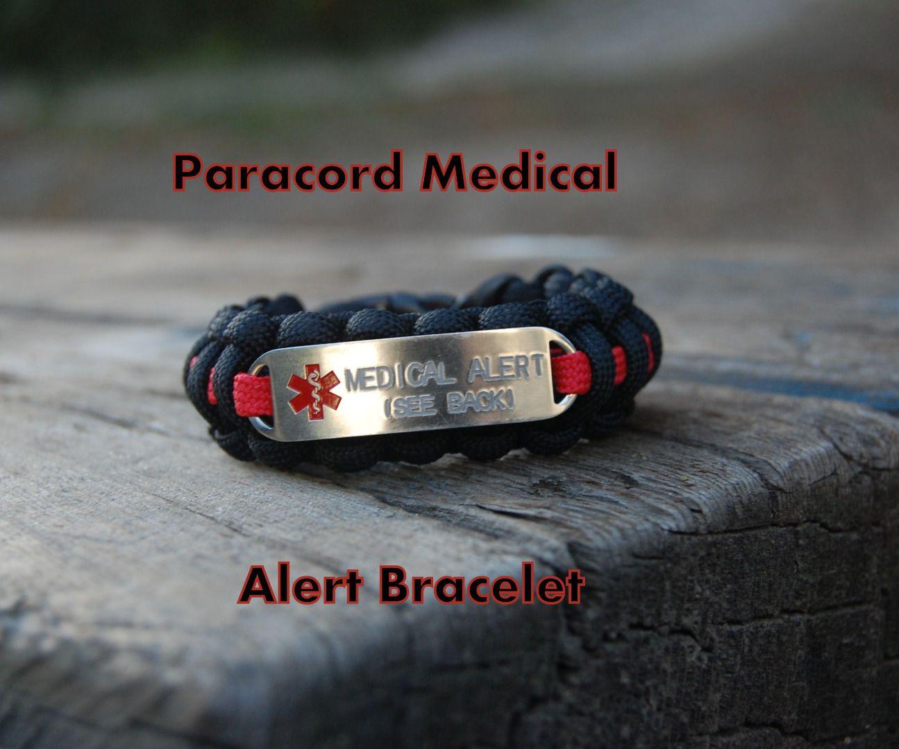 Paracord Medical Alert Bracelet Medic Alert Bracelets Alert Bracelet Medical Alert